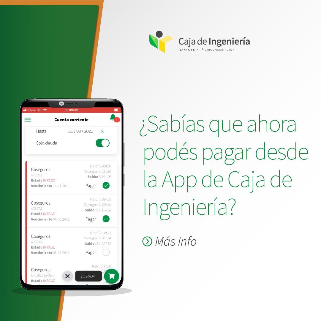 Pagá tus facturas desde nuestra App