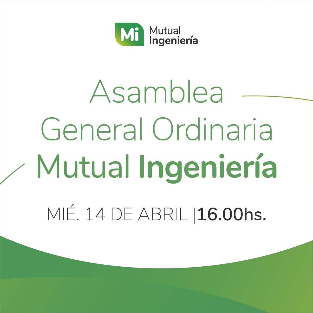 Convocatoria a Asamblea General Ordinaria Mutual Ingeniería