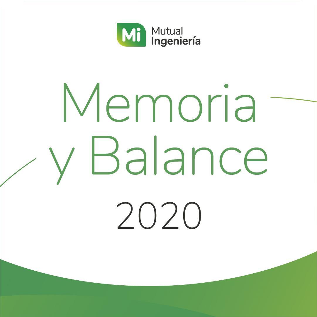 Memoria y Balance 2020